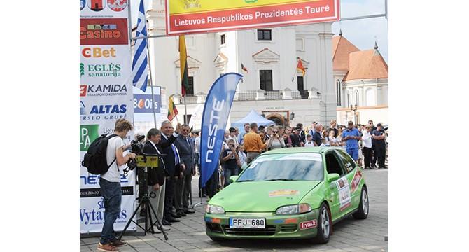 """Molėtų gatvės - ralio """"Aplink Lietuvą"""" slalomo trasa"""